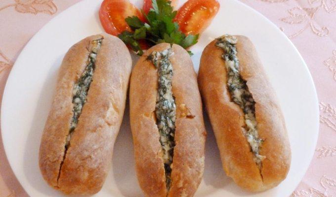 Мини батоны с сыром и чесноком