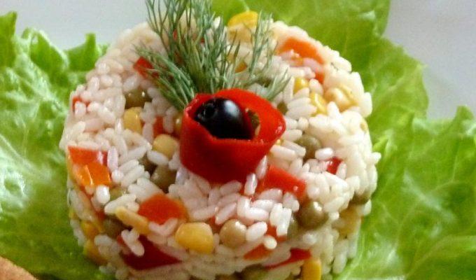 """Рис с овощами """"Цветной"""""""