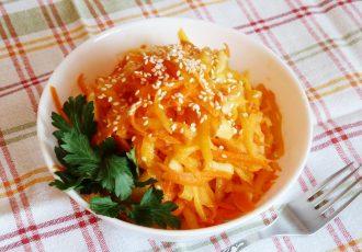 Салат из тыквы с морковью и яблоком
