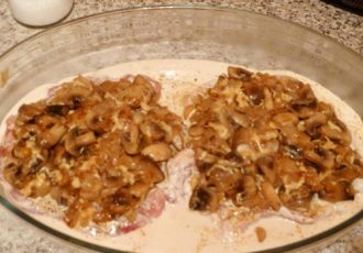 Куриный стейк с грибами
